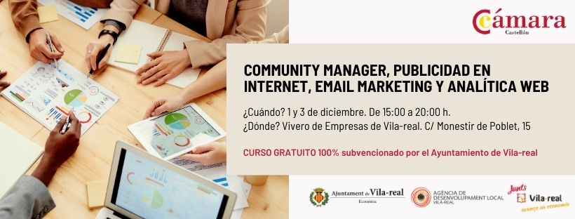 Community Manager, publicidad en internet, emailmarketing y analítica web
